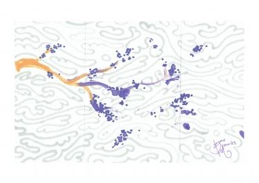 Purple Sakura - The Cloudhatched Beginning - Bono Mourits