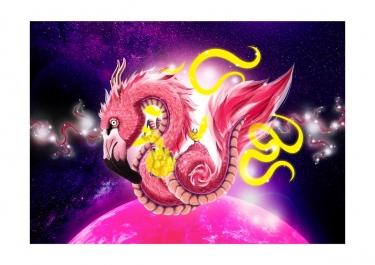 Flamingo Dragon - Bono Mourits