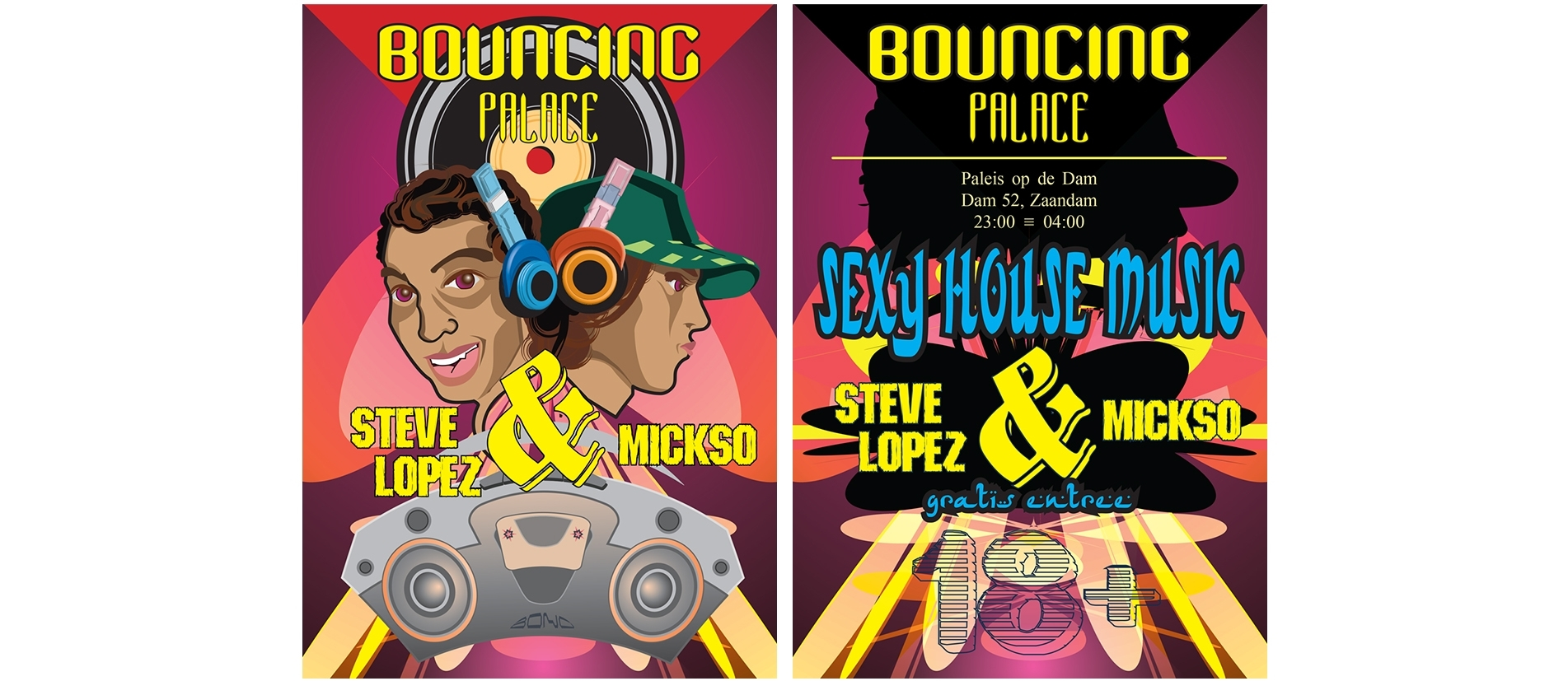 Bouncing Palace Flyer ( front / Back )