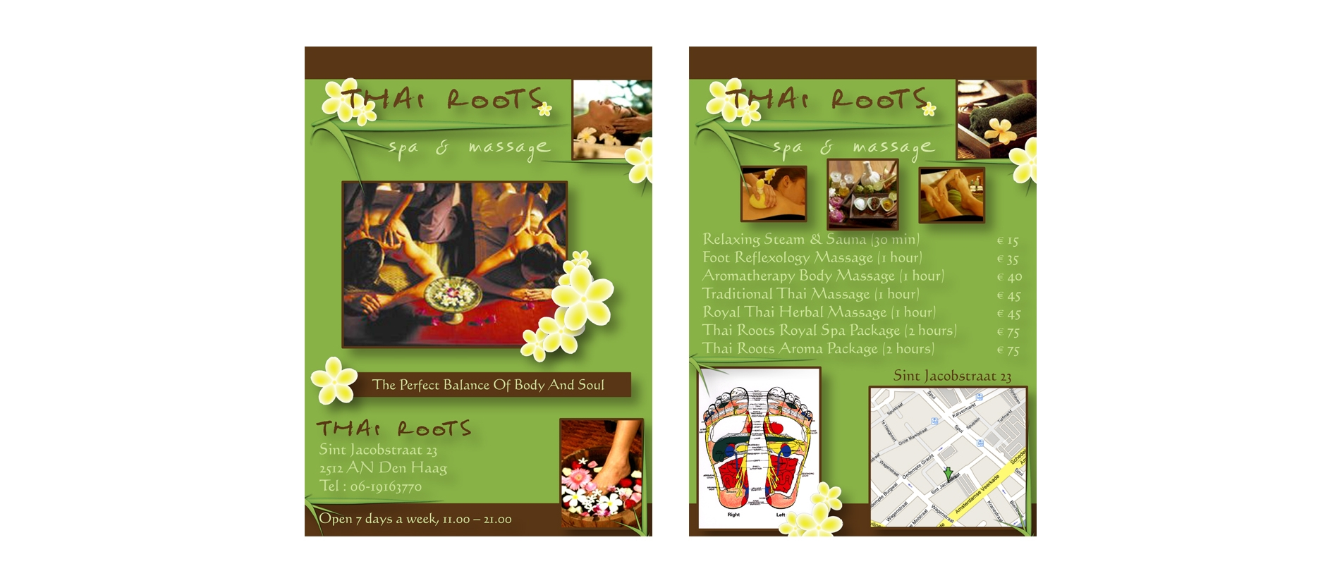Thai Roots Logo and flyer